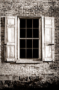 Broken Window Framed Prints - Shutters Framed Print by Olivier Le Queinec
