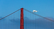 Kate Brown Framed Prints - Shuttle Endeavour at the Golden Gate Framed Print by Kate Brown