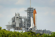 Cape Canaveral Prints - Shuttle Endeavour is Prepared for Launch Print by Ricky Barnard