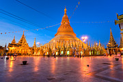 Rangoon Art - Shwedagon Paya - Yangoon - Myanmar by Luciano Mortula