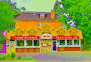 Streetscenes Paintings - Siam Kitchen Genuine Thai Cuisine Old Ottawa South The Glebe Paintings Cafe Scenes Carole Spandau  by Carole Spandau