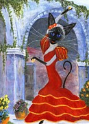 Castanets Posters - Siamese Queen of Spain Poster by Jamie Frier