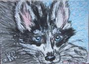 Siberian Husky Paintings - Siberian Husky by Kathy Marrs Chandler