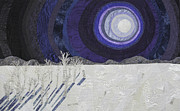 Moonlight Tapestries - Textiles - Siberian Moonlight Sonata by Patricia Gould