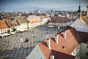 National Past Time Photos - Sibiu Romania square medieval city  by Daniel Barbalata