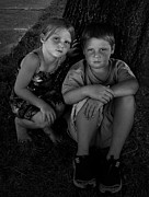 Julie Dant Metal Prints - Siblings Metal Print by Julie Dant