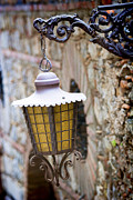 Quality Metal Prints - Sicilian Village Lamp Metal Print by David Smith