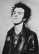 Punk Drawings Posters - Sid Vicious Poster by Steve Hunter