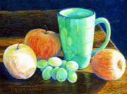 Food And Beverage Pastels Originals - Side Light by Tanja Ware