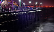 Side Of The Pier - Santa Monica Print by Gandz Photography