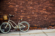 Two Wheeler Photo Prints - Sidewalk Parking Print by Karol  Livote