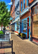 Small Towns Metal Prints - Sidewalk Scenes Metal Print by Tri State Art