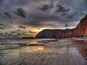 Curtis Radclyffe - Sidmouth Beach at Sunset