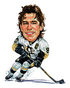 Caricatures Painting Prints - Sidney Crosby Print by Art