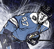 Hockey Mixed Media - Sidney Crosby by Nate Gandt