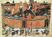 Miniatures Art - Siege Of  Baghdad By Mongolians 13rd C by Everett