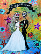 Bride And Groom Paintings - Siempre El Amor by Pristine Cartera Turkus