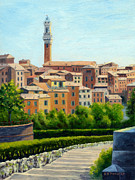 Siena Paintings - Siena Italy by Elaine Farmer