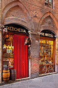 Italian Shopping Framed Prints - Siena Meat and Cheese Shop Framed Print by Brian Jannsen