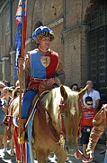 Sami Sarkis Framed Prints - Siena Palio parade Framed Print by Sami Sarkis