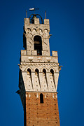 Siena Photos - Siena Torre Mangia Tuscany Italy by Mathew Lodge