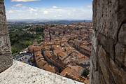 Sienna Italy Metal Prints - Sienna from above Metal Print by Al Hurley