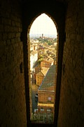 Sienna Italy Posters - Sienna Tower Window Poster by Barbara Stellwagen