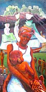 Slaves Painting Originals - Sierra Leone by Michael Owens