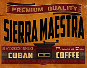 Coffee Digital Art - Sierra Maestra Crate Label by Cinema Photography