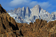 Alabama Hills Framed Prints - Sierra Nevada California Framed Print by Bob Christopher