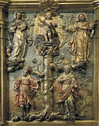 Genealogy Metal Prints - Sierra, Pedro De 1702-1760. Altarpiece Metal Print by Everett