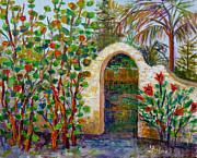 Siesta Key Paintings - Siesta Key Archway by Lou Ann Bagnall