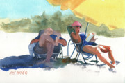 Sunglasses Painting Posters - Siesta Poster by Kris Parins
