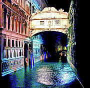 European City Mixed Media - Sigh In Venice by Zeana Romanovna