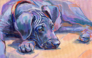 Great Dane Paintings - Sigh by Kimberly Santini