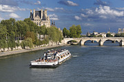 BERNARD JAUBERT - Sightseeing cruise boat on River Seine. Paris