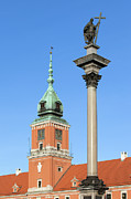 Commemorative Posters - Sigismund Column and Royal Castle in Warsaw Poster by Artur Bogacki