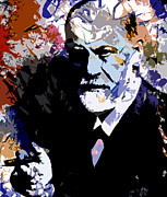 Freud Digital Art Posters - Sigmund Freud Poster by Allen Glass