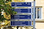 Alexanderplatz Prints - Sign Berlin Print by Galexa Ch