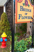 Shelburne Falls Prints - Sign Bridge of Flowers Shelburne Falls Massachusetts Print by Robert Ford