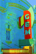 Liane Wright Posters - Sign - Gem Theater - Jazz District  Poster by Liane Wright