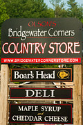 Vermont Country Store Framed Prints - Sign on the Bridgewater Corners Country Store Vermont Framed Print by Robert Ford