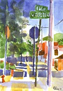 Streets Painting Originals - Sign Posts by Kip DeVore