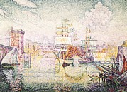 Pointillist Prints - Signacpaul 1863-1935. Entrance Print by Everett