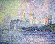 Pointillist Prints - Signacpaul 1863-1935. The Chateau Des Print by Everett
