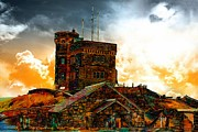 Outlook Photos - Signal Hill - Cabot Tower - Enhanced Sky by Barbara Griffin