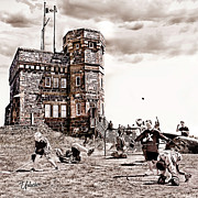 Youth Hockey Art - Signal Hill Boot Hockey by Elizabeth Urlacher