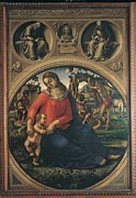 Mary Holding The Christ Prints - Signorelli Luca, Madonna And Child Print by Everett