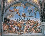 Luca Framed Prints - Signorelli Luca, The Last Judgment. The Framed Print by Everett