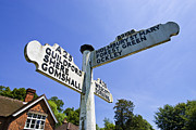 Directional Signage. Photos - Signpost Abinger Hammer Surrey England UK by Jon Boyes